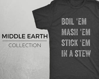 TATERS - Middle Earth LOTR Hobbit Inspired Shirt, Geek Shirt, Lord of the Rings, Sam Gamgee, Potatoes, Taters, LOTR Shirt
