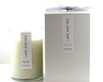 16 oz Lake & Sea Apricot coconut wax wood wick Candles, Natural Candle Victoria, BC Vancouver Island Canada