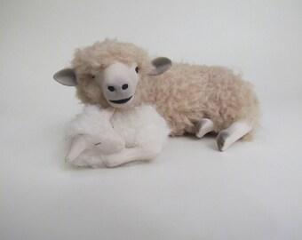 Leicester Longwool Ewe With Newborn Lamb