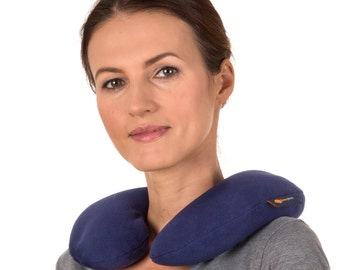Washable Microwavable Neck Heating Pad, Navy Blue,  Heated Neck Pillow, High Quality Anti-pil Fleece Cover