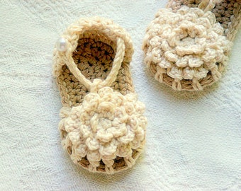 Baby Booties Crochet  Pattern - Simply Summer Sandals - Pattern number 101 - Instant Download L
