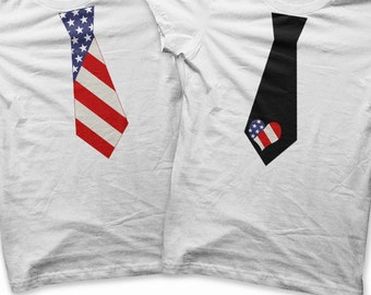 American Flag Iron on Transfer - Iron on Boys Tie Shirt / Toddler 4th of July Outfit / USA Flag Shirt / Kids Fourth of July Tshirt Tee T92J