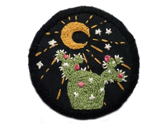 Embroidered Southwestern Cactus Patch