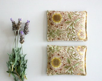 Mother's Day Sunflower Yellow Lavender Sachets -  Set of 2 - Lavender Pillows - Mother's Day Gift - Drawer Sachet Aromatherapy