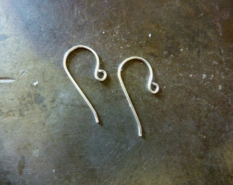 Tiny Sterling Silver Earwires -  Choose your gauge - 10 pair