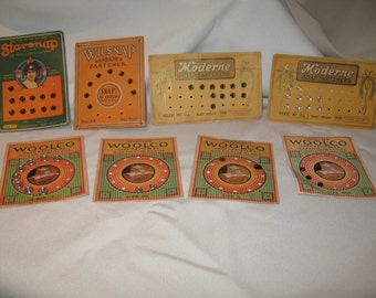 REDUCED LOT of 8 Vintage Snaps Cards