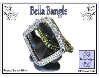 Beading Tila Pattern, Tutorial, Bangle - BELLA