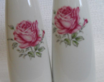 Rose Floral Salt and Pepper Shakers - vintage, collectible, flowers