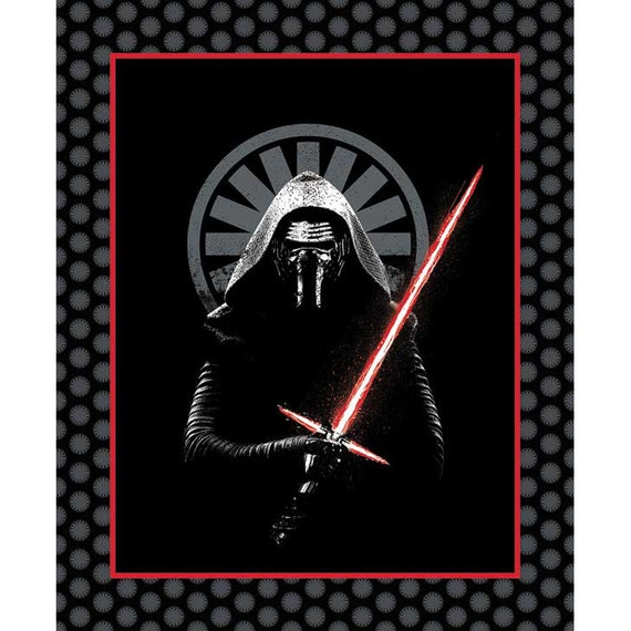 Star Wars Fabric The Force Awakens Darth Vader Fabric Panel Black