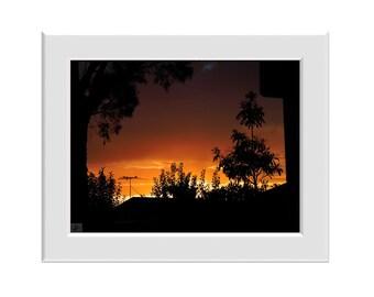 Digital Photo - Ombre Dawns - Sunrise Dawn Nature Silhouette Morning