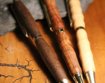 Wood Turned Slimline Pen - Spalted Wood