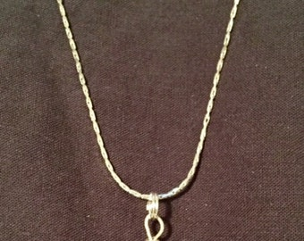 "Pyrite and Sterling Silver Necklace 18"" long"
