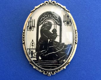 BEAUTY and the BEAST Brooch - Silhouette Jewelry