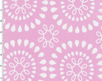 """End of Bolt- 34""""x44"""" Pink Emerson Circles from Michael Miller's Girl Harper Collection"""