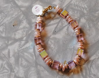 Pink cubes bracelet (#1)