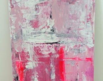 "Acrylic on canvas ""Pink explosion"" 100 x 70 cm Modern Art modern style acrylic original abstract painting on canvas"