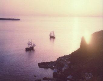 Ammoudi Bay   Santorini, Greece Polaroid Print   Fine Art Photography