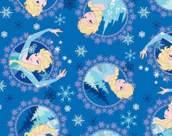 FLEECE - EXCLUSIVE Disney Frozen Fabric - Elsa Framed Toss Fleece - Available NOW