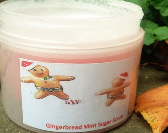 gingerbread mint body scrub, health and beauty, sugar scrub, body scrub, bath and body, exfoliator, normas bath and body