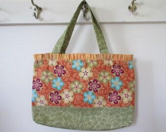 Ruffled Bag, church bag, scripture bag