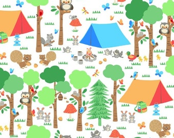 Blank Quilting Camping Club Forest Scene fabric - 1 yard