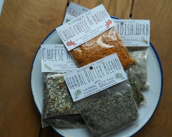 Dried Herb Dip Mixes - All Natural Seasoning Mix - Gluten Free - No MSG or Sodium - Party Dip Mix - Vegetable Dip Mix - Boondock Enterprises