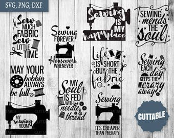 Sewing SVG Bundle, sewing svg pack cut files, 10 sew cut files, sew seamstress quote cut files, cricut, silhouette, commercial use, sew svg