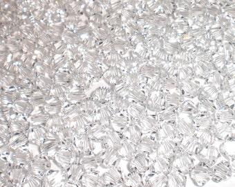 Swarovski Crystal 5328 4mm XILION Clear Bicones - 50 Pack