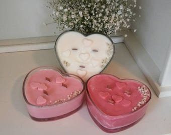 16 oz heart soy candle