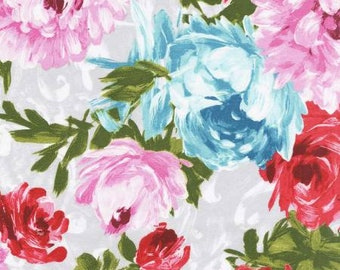 Poetry in Motion-Garden Floral - Michael Miller -Cotton Fabric- Quilt- Apparel-WindyRobinCotton- *Sold in Half Yard.