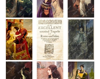 Romeo and Juliet Digital Download Collage Sheet 3.5 x 2.25