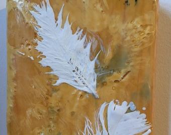 The Icarus Series: Falling/Flying   original mixed media encaustic painting