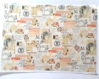 30 sheets 21x29cm Retro Vintage Greaseproof Oil Wax Food Wrapping Papers