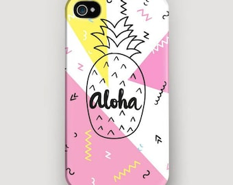 Pineapple iPhone 6 Case, Aloha iPhone 7 Plus Case, Pineapple Phone Case, iPhone 5 Case, Galaxy S7 Case, iPhone 7 Cover, iPhone 6S Phone Case