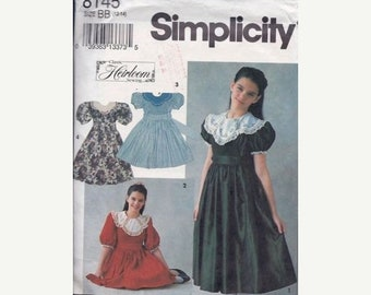 BTS Simplicity 8145 Girls' Dress in Two Lengths Sewing Pattern
