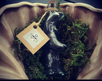 Bottle salt Hekata Black Moon / Lunar Bottle of Hekata Black Salt (magical tool, magical tool) Protection