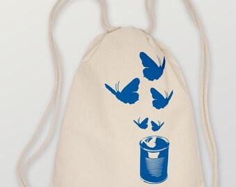 "Gymsack ""Butterfly02"" Fair Trade Organic"