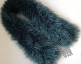 Fashion Accessory Collar Headband Snood Natural fur   fox Green