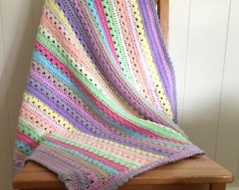 Sherbet Pips Crochet Baby Blanket