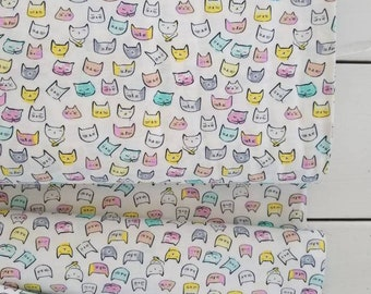 Catitude - Cat Heads(White Background) - Dear Stella Designs