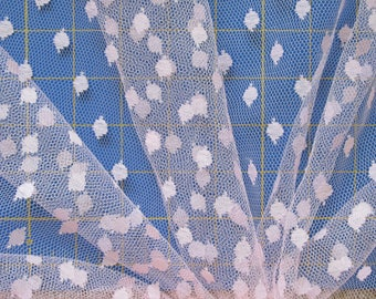 "1 yard x 60"" wide Sheer Netting, Beautiful Soft Pink Fabric Costume (sold BTY) Tulle"
