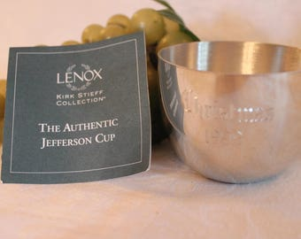 Lenox Christmas Jefferson Cup - Kirk Stieff Collection, Pewter, Thomas Jefferson Memorial Foundation