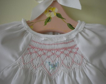 Hand Smocked Baby Gown