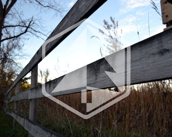 Countryside Rustic Weathered Fence Photo Digital Download