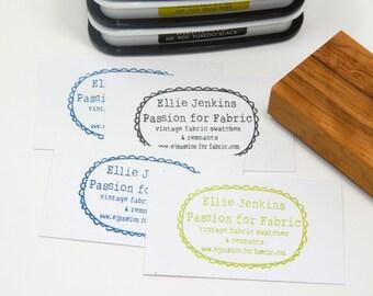 Custom Whimsical Frame Olive Wood Stamp