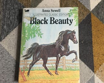 Vintage 1977 Black Beauty Anna Sewell Paperback Book