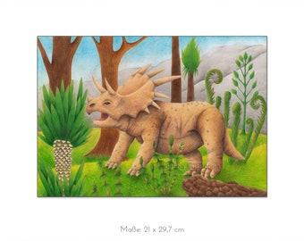 "Original illustration ""Triceratops"""