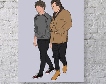 Something Great - One Direction Print - Larry Stylinson - Harry Styles - Louis Tomlinson