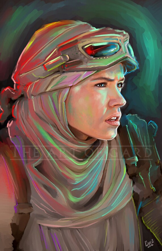 Rey (The Force Awakens) 11X17 Artist's Print