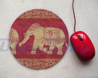 Asian Elephant Mousepad, Office Mousepad, Computer Mouse Pad, Fabric Mousepad
